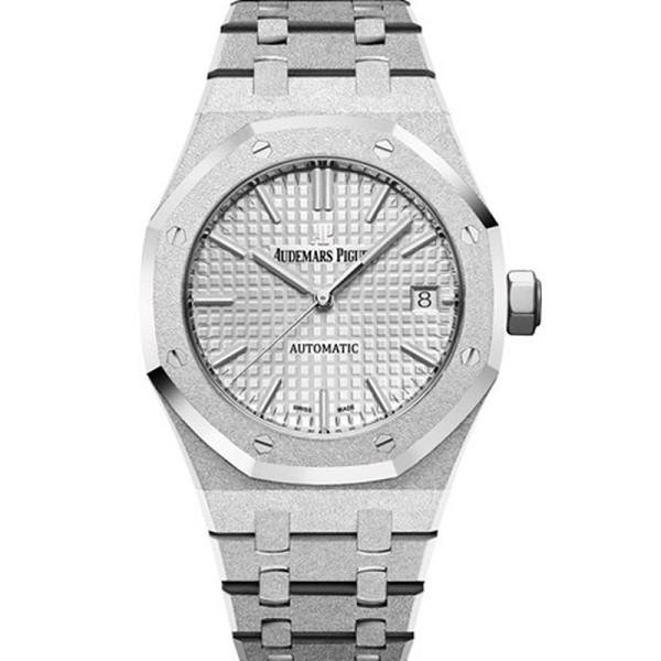 仿爱彼皇家橡树手表 精仿爱彼皇家橡树系列霜金15454BC.GG.1259BC.01 银色表盘男士机械表