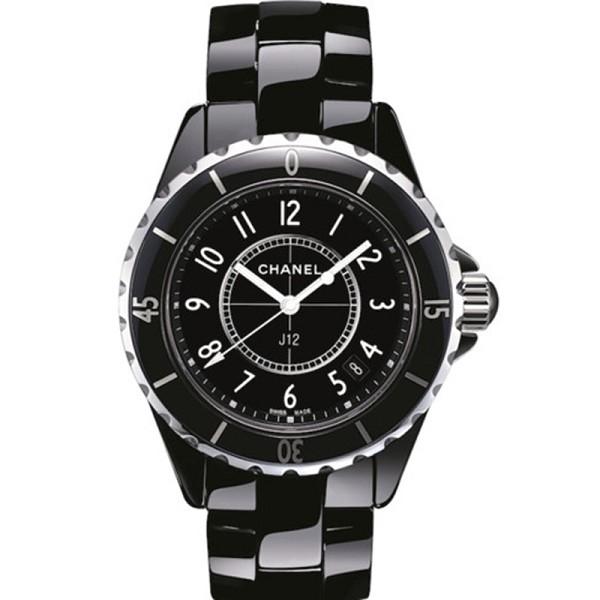 一比一精仿香奈儿J12系列 高仿香奈儿J12陶瓷系列H0682 黑色陶瓷石英女士手表