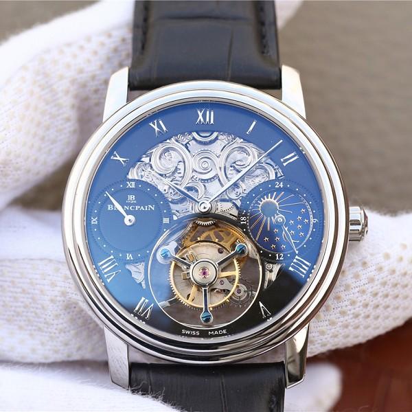 宝珀+高仿 高仿复刻宝珀巨匠系列00235-3631-55B铂金陀飞轮腕表黑面 男士机械表