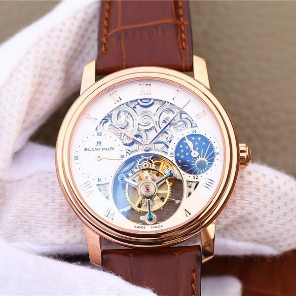 高仿宝珀手表 精仿复刻宝珀巨匠系列00235-3631-55B玫瑰金陀飞轮腕表 男士机械表