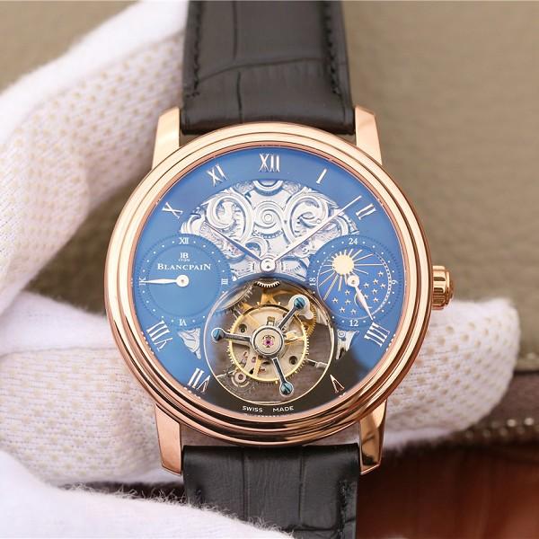 一比一仿宝珀陀飞轮表 高仿复刻宝珀巨匠系列00235-3631-55B玫瑰金陀飞轮腕表 男士机械表
