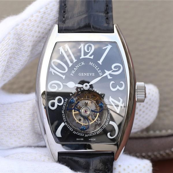 仿陀飞轮表法兰穆 高仿法兰克穆勒8880真陀飞轮黑面 男士机械手表