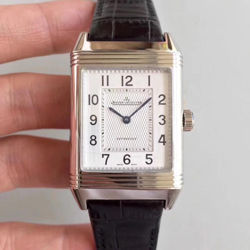 仿积家男手表 精仿复刻积家翻转系列方形表白盘 男士多功能机械表
