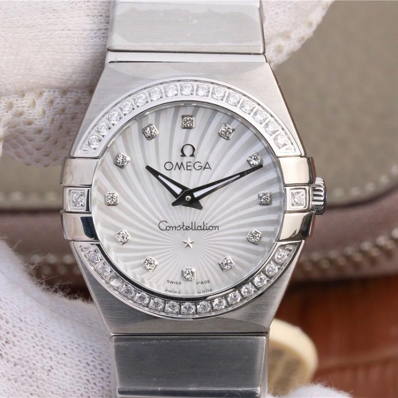 复刻欧米茄手表 高仿复刻欧米茄123.15.27.60.55.004星座系列27毫米石英腕表女款