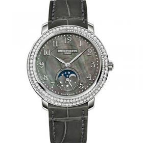 百达翡丽4968仿表 精仿复刻百达翡丽复杂功能计时系列4968G-001 女士手表