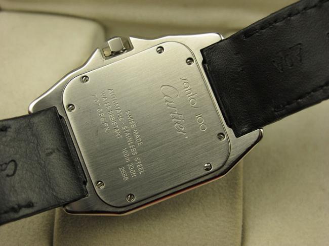 瑞士卡地亚Cartier男表 SANTOS山度士100周年系列W20073X8皮带机械方形男表