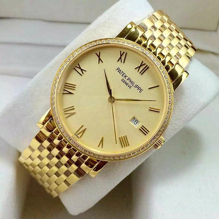 百达翡丽经典金表 一比一高精仿百达翡丽Patek Philippe 男士自动机械手表 包18K金 蓝宝石镜面