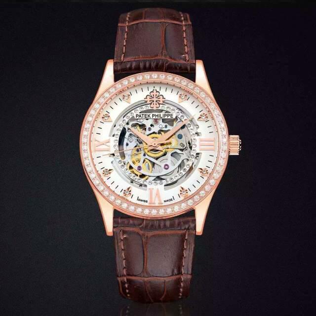 镂空百达翡丽手表 百达翡丽Patek Philippe 全缕空 包18K玫瑰金 男士自动机械手表 进口机芯