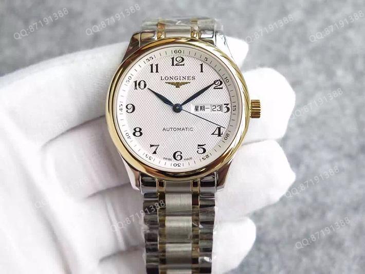 【浪琴L2.755.5.78.7】一比一高精仿浪琴(Longines) 名匠系列 L2.755.5.78.7 版 包18K金 钢带皮带通用 男士自动机械表手表